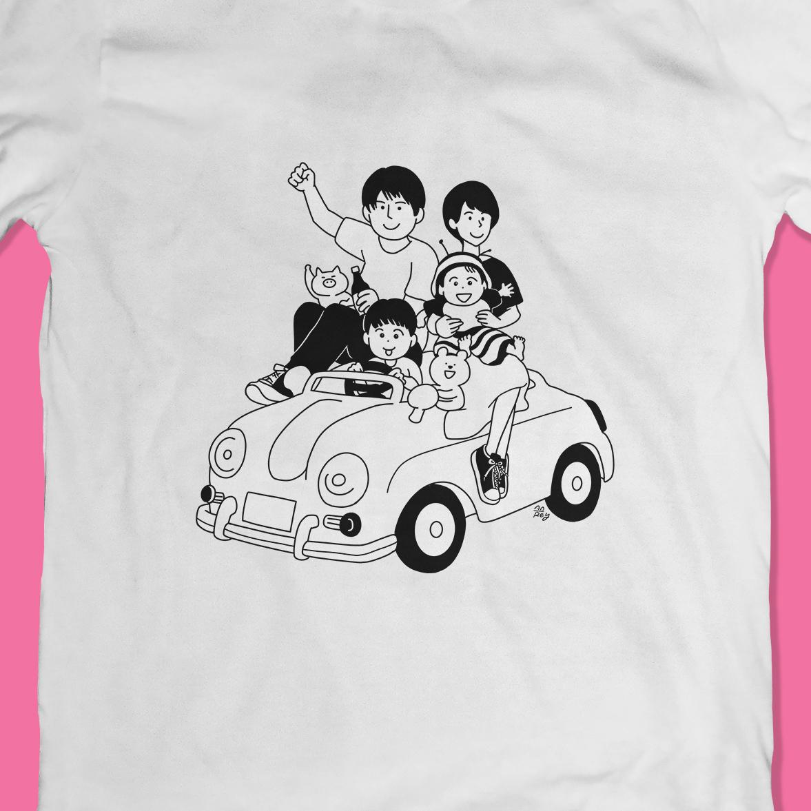 Tシャツ&バッグのイラスト作成